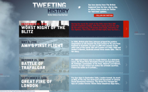 Tweeting History website